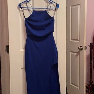 Long blue fashion dress